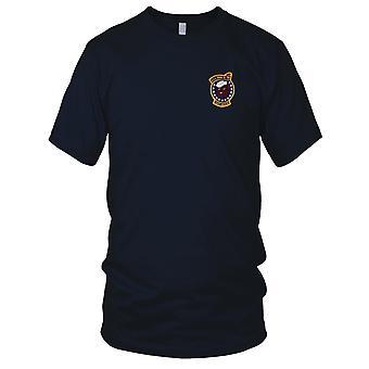E.U. da Marinha USS DD-794 Irwin bordada Patch - Mens T-Shirt