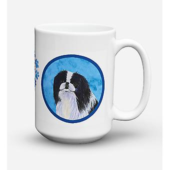 Japanese Chin  Dishwasher Safe Microwavable Ceramic Coffee Mug 15 ounce SS4743