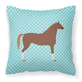 Celebrar caballo azul Compruebe almohadilla decorativa de tela