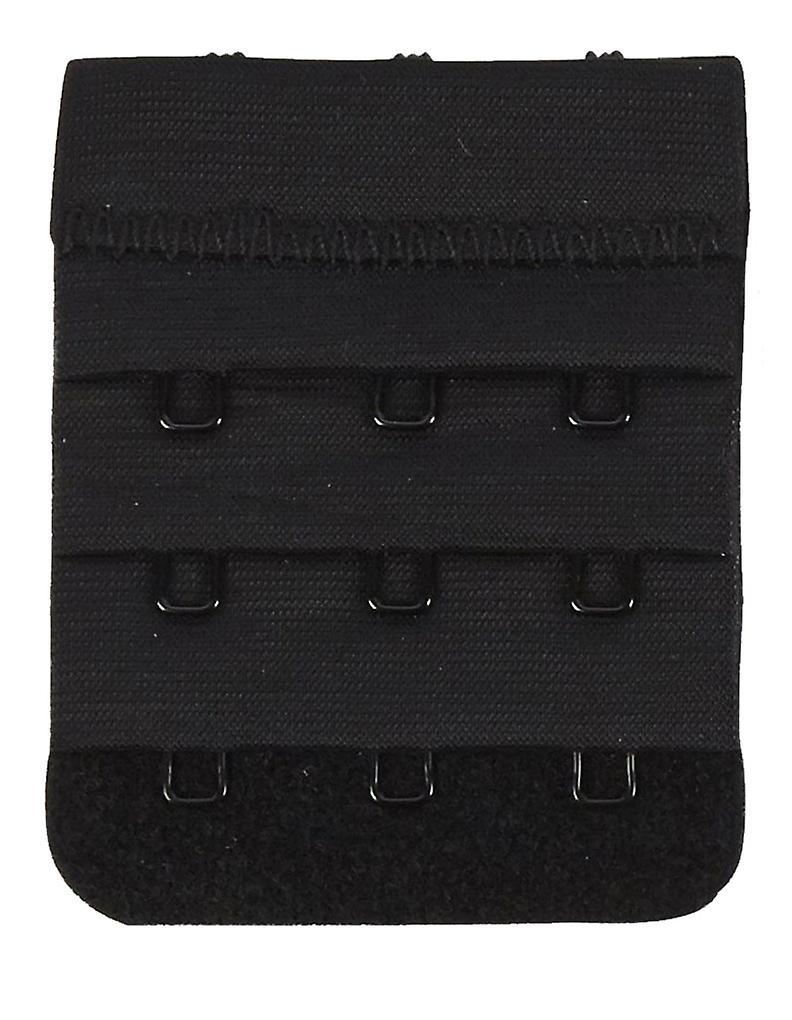 Secret Weapons SW029-3 Women's 3 Hook Bra Strap Extender Black Bra Extenders