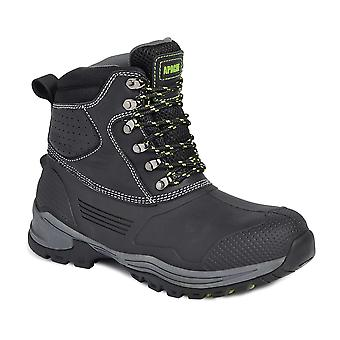 Apache Digger black leather Waterproof Boot