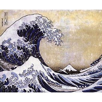 The Great Wave off Kanagawa c1830 Poster Poster Print by Katsushika Hokusai