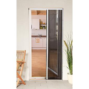 Fly screen door Kit insect protection pleated door 125 x 220 cm anthracite