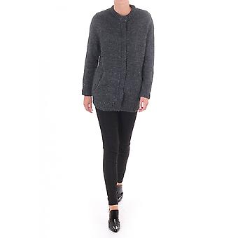 Samsoe & Samsoe Womens Redford Cardy In Wool Mix With Stud Fasteni