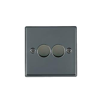 Hamilton Litestat Hartland Black Nickel 2g 100W LED Dimmer BK