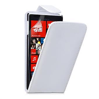 Yousave Zubehör Nokia Lumia 720 Lederoptik Flip Case - weiß