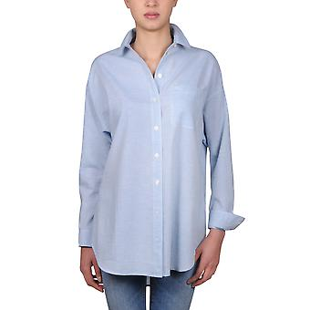 Burberry ladies 4012974 light blue cotton shirt