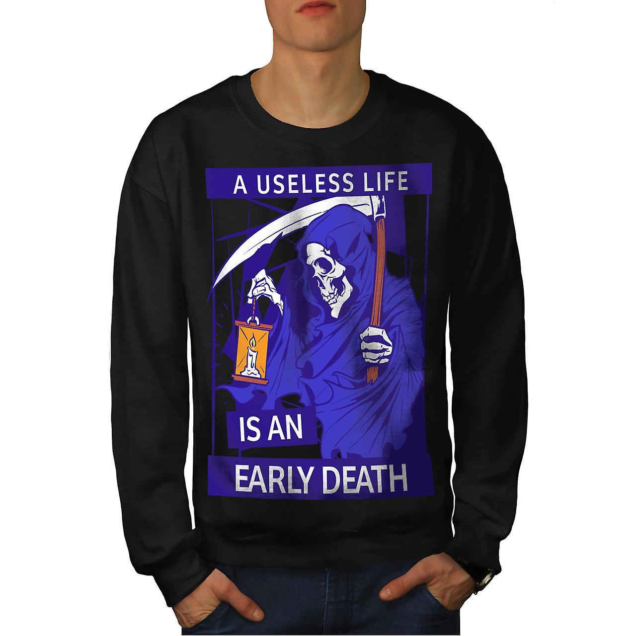 Mort, faucheuse horreur hommes noirSweatshirt