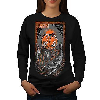 Invito della zucca Horror donne BlackSweatshirt | Wellcoda