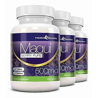 Maqui Berry antioxidante suplemento 500mg cápsulas - 180 cápsulas - antioxidante - evolución adelgazar