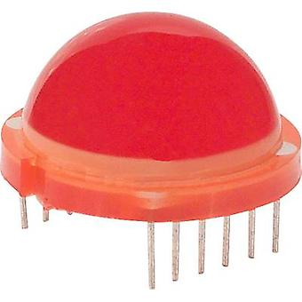 LED wired Red Convex 20 mm 25 mcd