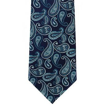 Michelsons of London Tumbling Paisley Silk Tie - Teal
