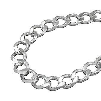 Necklace open curb chain silver 925 55cm