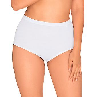 Sans Complexe 619102 Women's Simple White Solid Colour Knickers Panty Brief