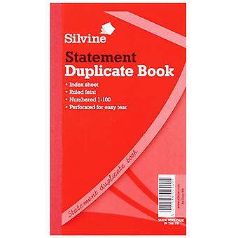 Silvine Duplicate Large Feint 200 Sheets Statement Book (Pack Of 6)