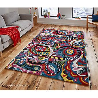 Retro fase tapijt