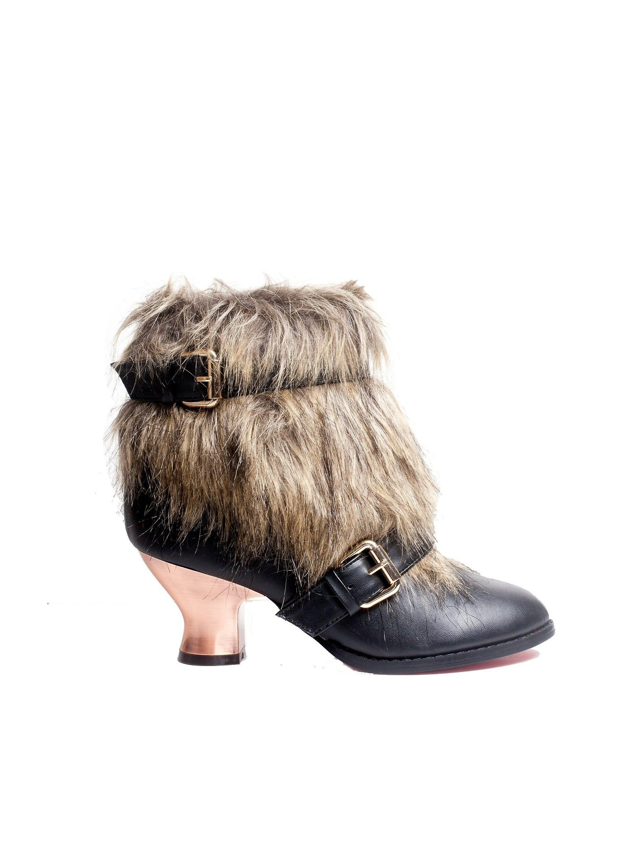 Hades Shoes H-ELEN Animal friendly fur and synthetic leather low boot shoes