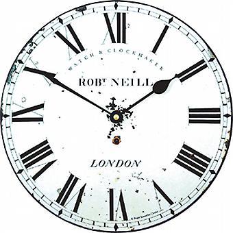 Roger Lascelles Distressed Uhrmacherzifferblatt Wanduhr 25.5cm MEDNEILL