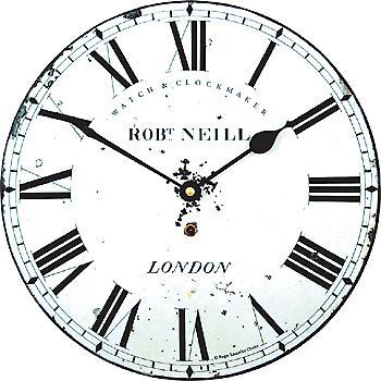 Roger Lascelles Distressed Clockmaker's Dial Wall Clock 25.5cm MEDNEILL