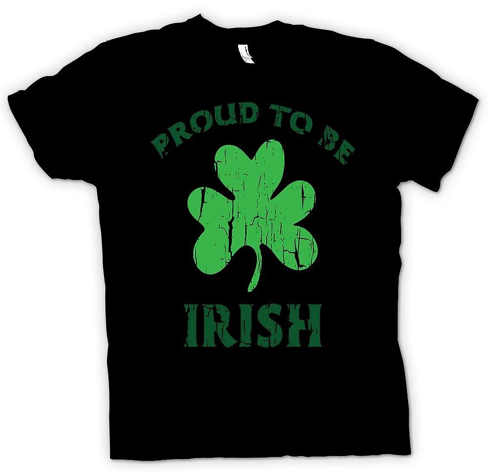 Womens T-shirt - St Patricks Day - Proud To Be Irish