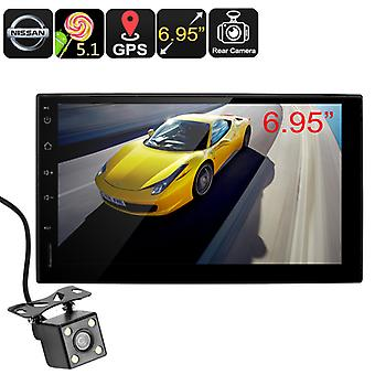 2 DIN Nissan Android Media Player - Android OS, Bluetooth Hands Free, GPS Navigation, Rearview Backup Camera