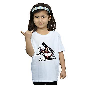 Marvel Girls Avengers Iron Man Armoured Avenger T-Shirt