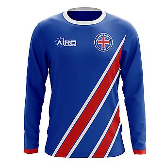 2018-2019 Iceland Long Sleeve Home Concept Football Shirt (Kids)