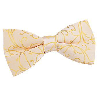 Gold Swirl Pre-Tied Bow Tie