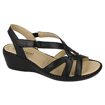 Eaze Womens/Ladies Comfort Wedge Sandals