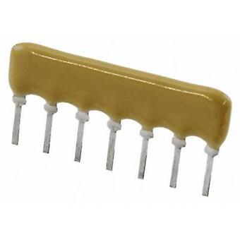 Resistor ladder 10 kΩ Radial lead SIP 7 0.2 W Bour