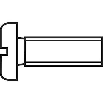 TOOLCRAFT 888691 Allen screws M4 16 mm Slot DIN 84 Steel zinc plated 1 pc(s)