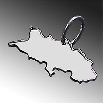 Trailer map SILESIA in solid 925 Silver Pendant