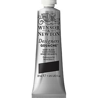 Winsor & Newton Designers Gouache 37ml (Ivory svart)