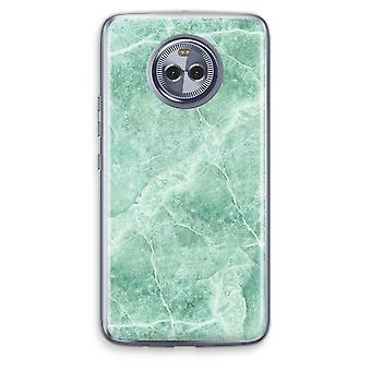 Motorola Moto X4 Transparent Case - Green marble