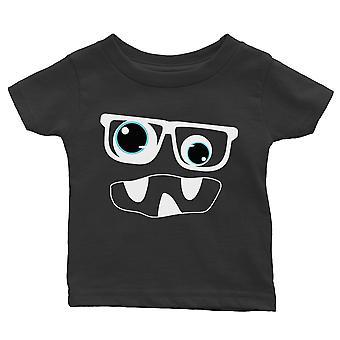 Monster mit Brille Baby Geschenk Tee schwarz