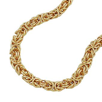 Byzantine chain 55cm gold plated