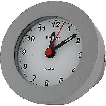 Gift Time Products Stand in Box Round Alarm Clock - Grey