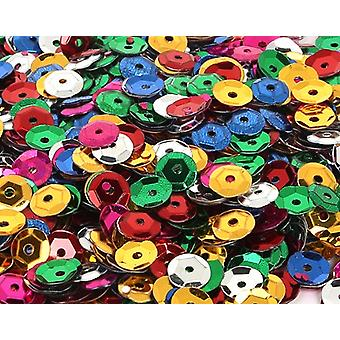 5mm Round Cupped Sequins with Holes - 800 - Choose Your Colour