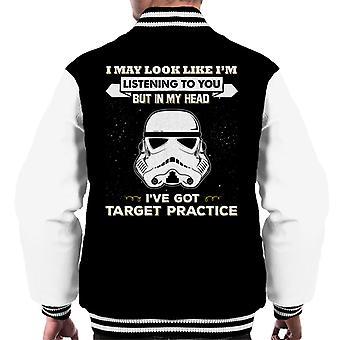 Original Stormtrooper I May Look Like Im Listening To You Men's Varsity Jacket