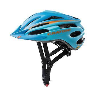 CRATONI Pacer Fahrradhelm // blau/orange matt
