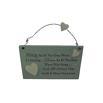 Sing As If No One Were Listening Plaque