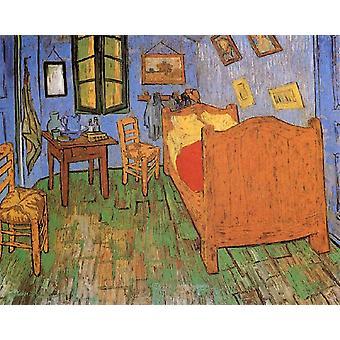 The Artist's Bedroom in Arles, Vincent Van Gogh, 50x40cm