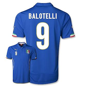 2014-15 Italien World Cup Home Shirt (Balotelli 9)