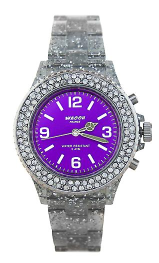 Waooh - Watch VENICE 34 White Glitter