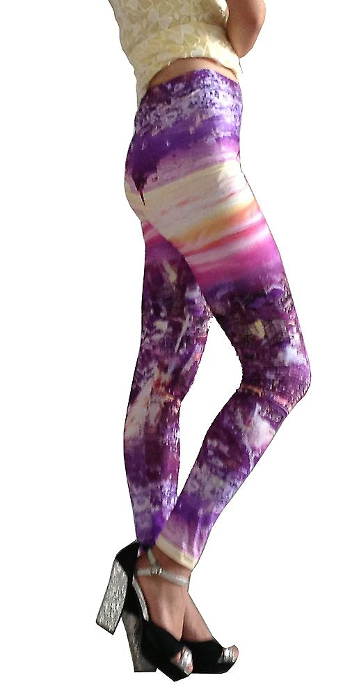 Waooh - Mode - Legging Motif City By Night Una