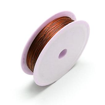 1 x Brown Plated Copper 0.5mm x 8m Round Craft Wire Spool HA16845