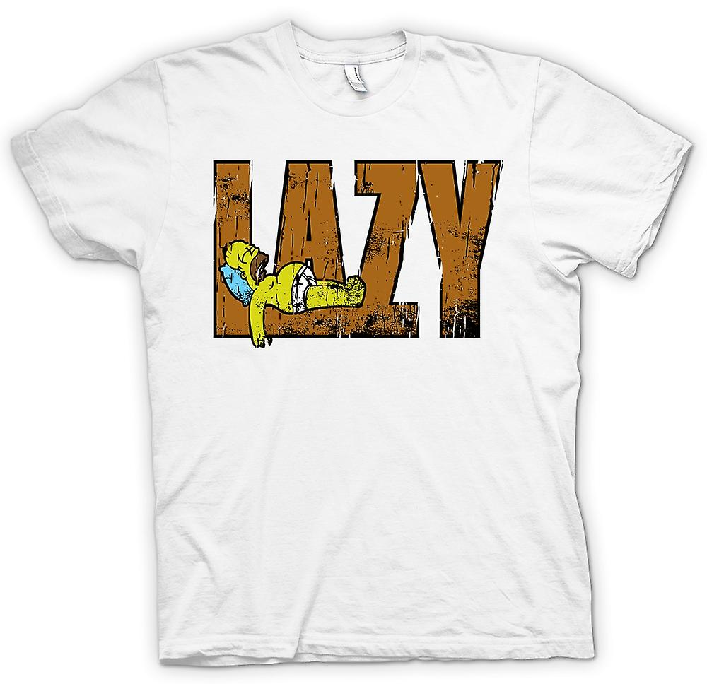 Womens T-shirt-Homer - Lazy - Simpsons inspiriert
