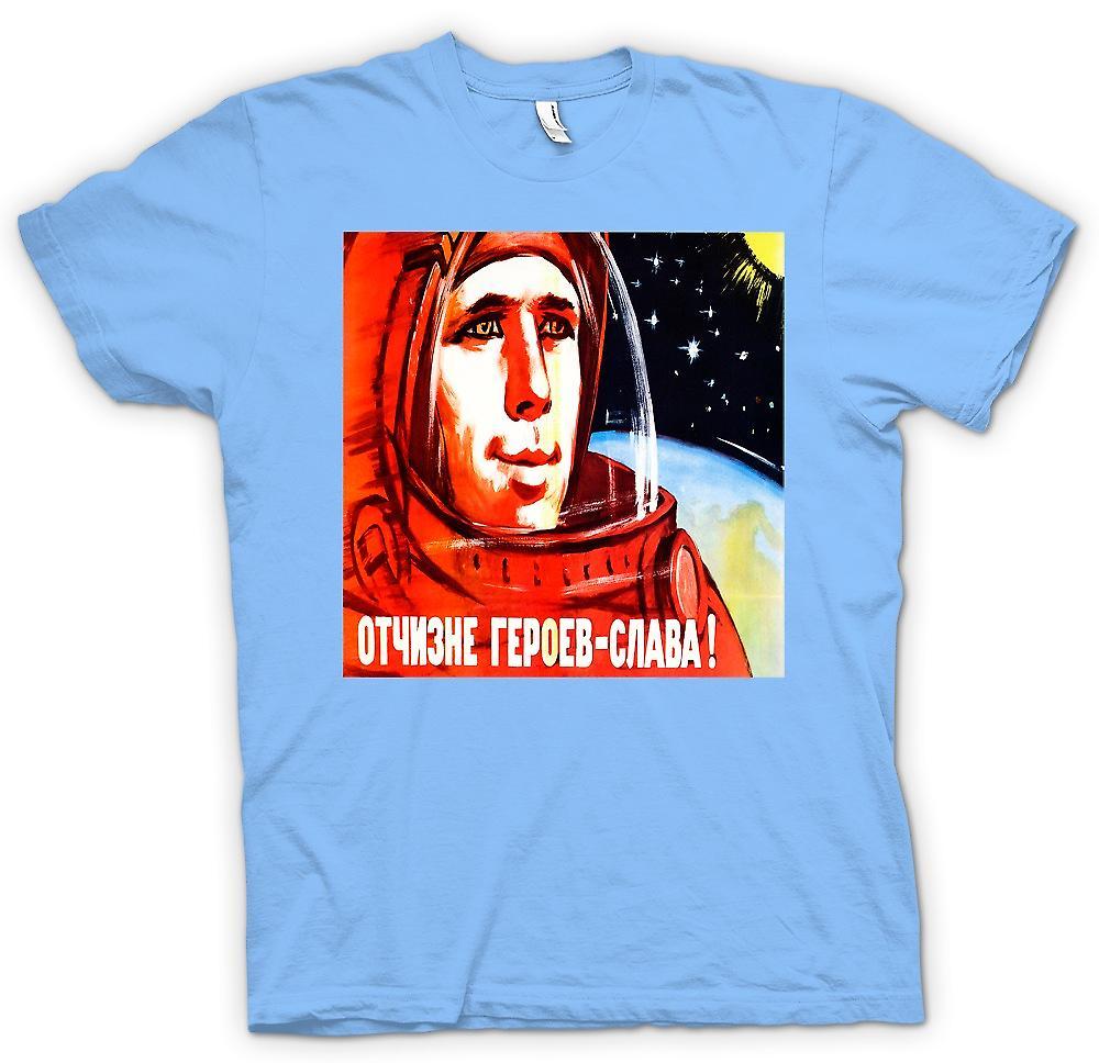 Mens T-shirt - Yuri Gagarin - Russian Cosmonaut
