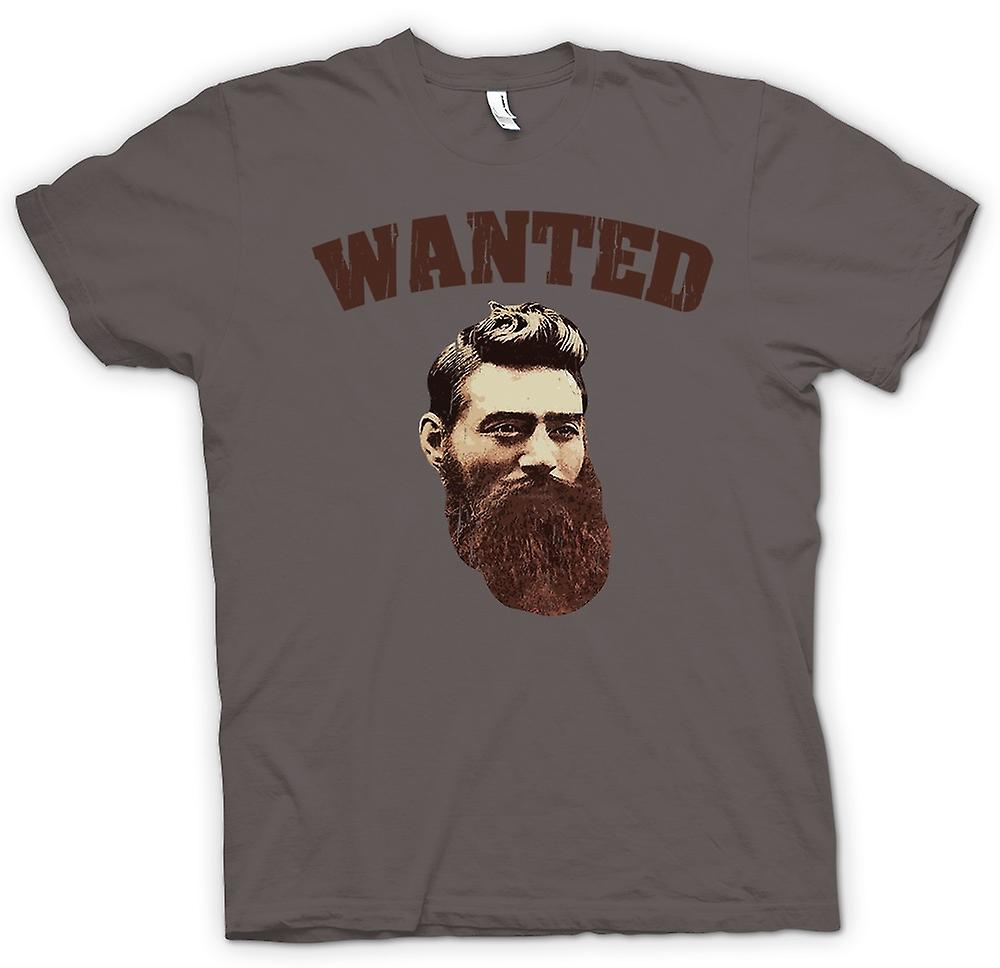 Womens T-shirt - Ned Kelly Old Portrait - Australian Criminal Legend