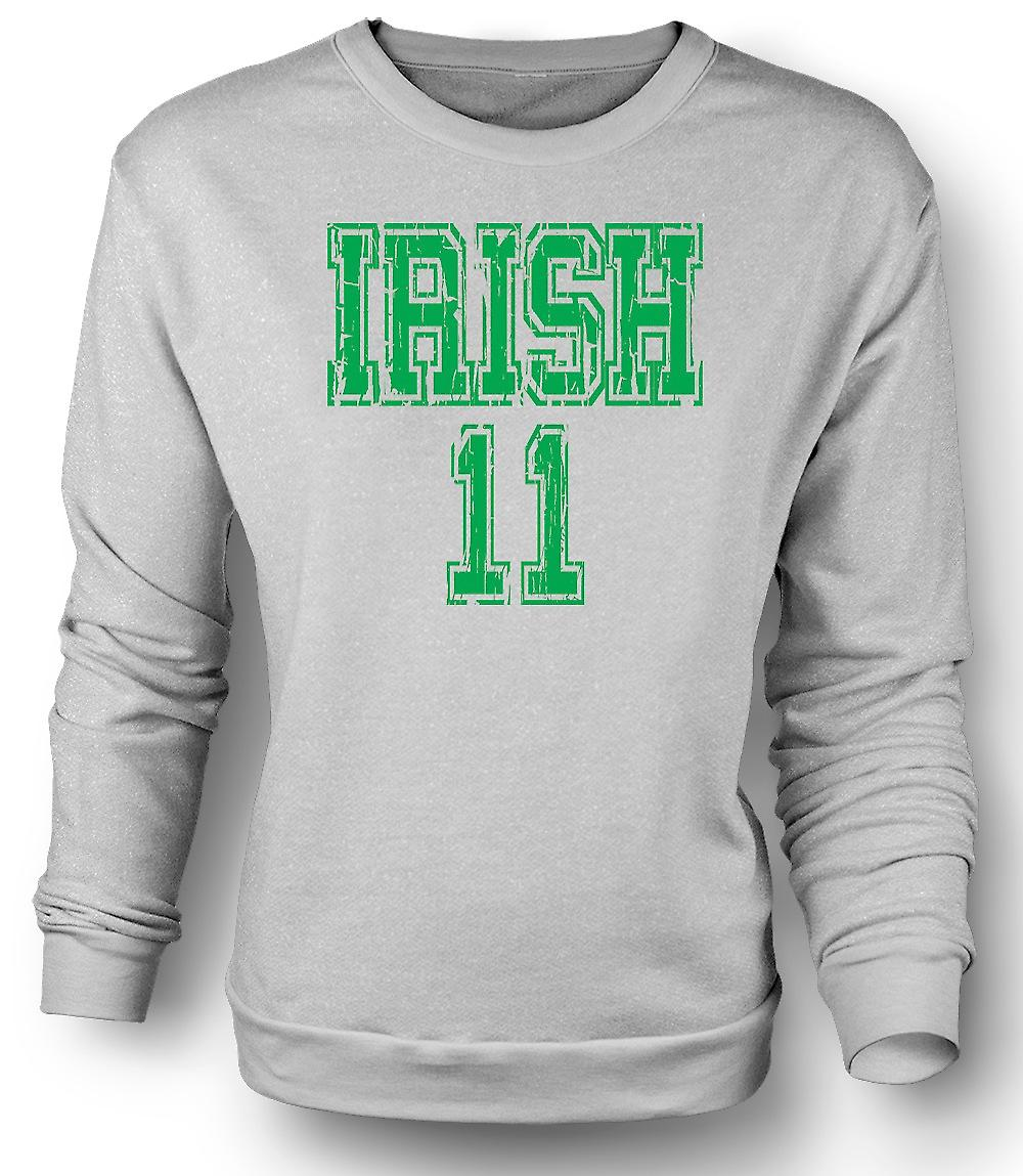 Mens Sweatshirt St Patricks Day Irish 11 - Funny